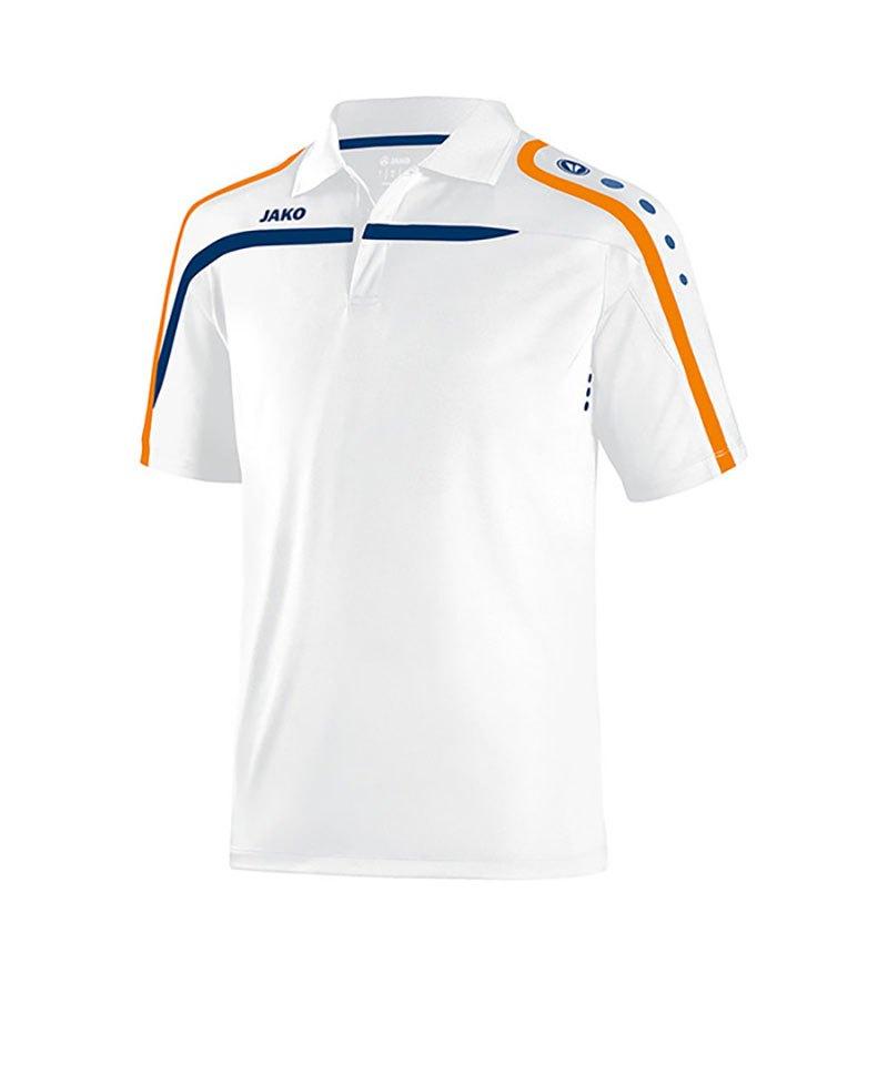 Jako Poloshirt Performance F19 Weiss Blau - weiss