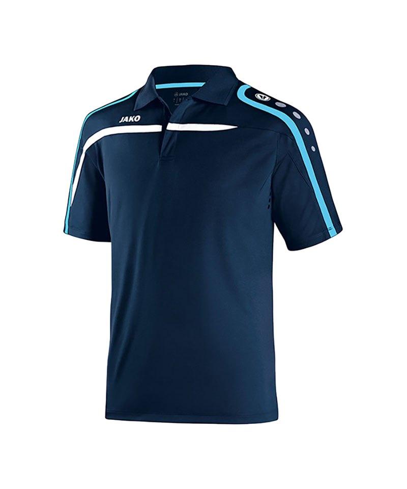 Jako Poloshirt Performance F45 Blau Weiss - blau