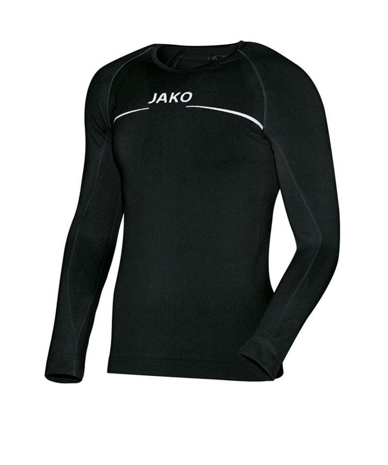 Jako Comfort Longsleeve Shirt Kinder Schwarz F08 - schwarz