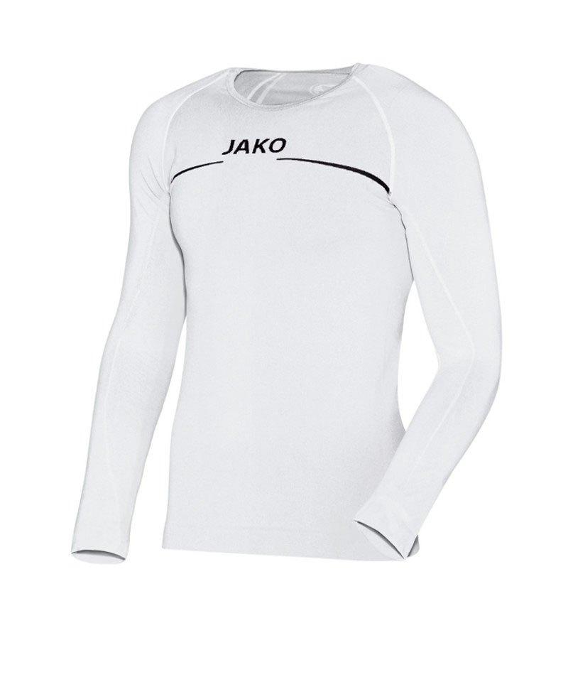 Jako Comfort Longsleeve Shirt Kinder Weiss F00 - weiss