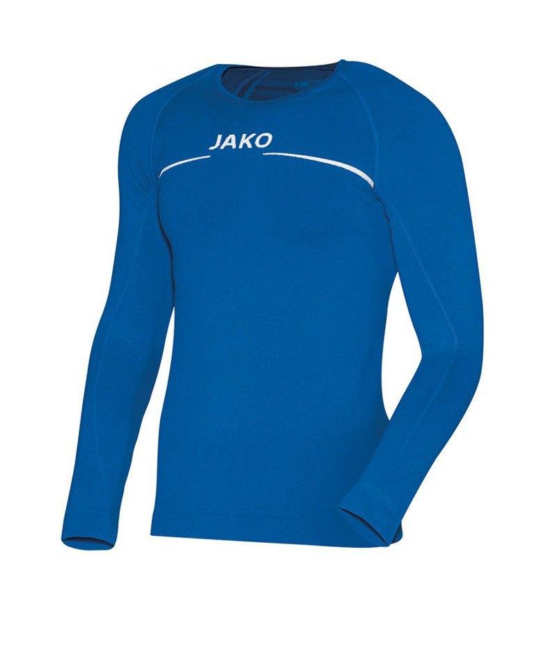 Jako Comfort Shirt Longsleeve Kinder Blau F04 - blau