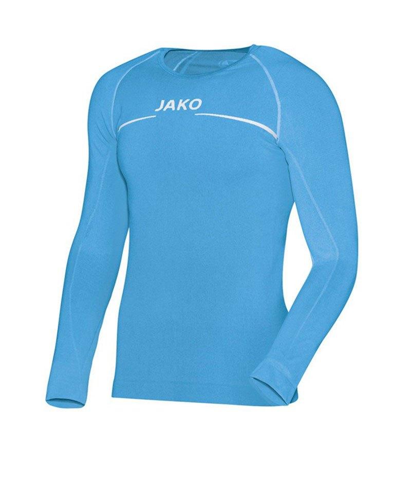 Jako Comfort Shirt Longsleeve Kinder Blau F45 - blau