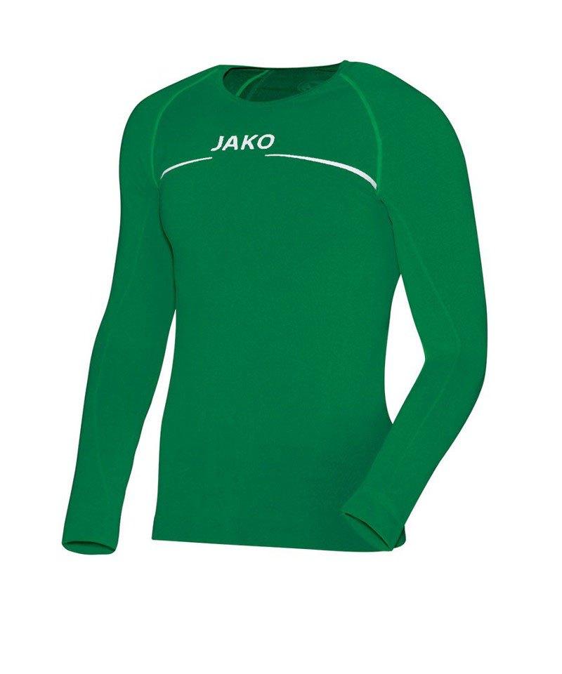 Jako Comfort Shirt Longsleeve Kinder Grün F06 - gruen