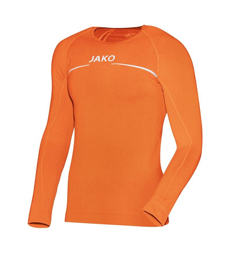 Jako Comfort Shirt Longsleeve Kinder Orange F19 - orange