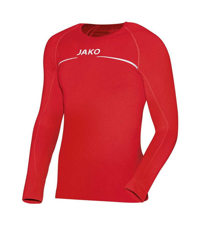 Jako Comfort Shirt Longsleeve Kinder Rot F01 - rot