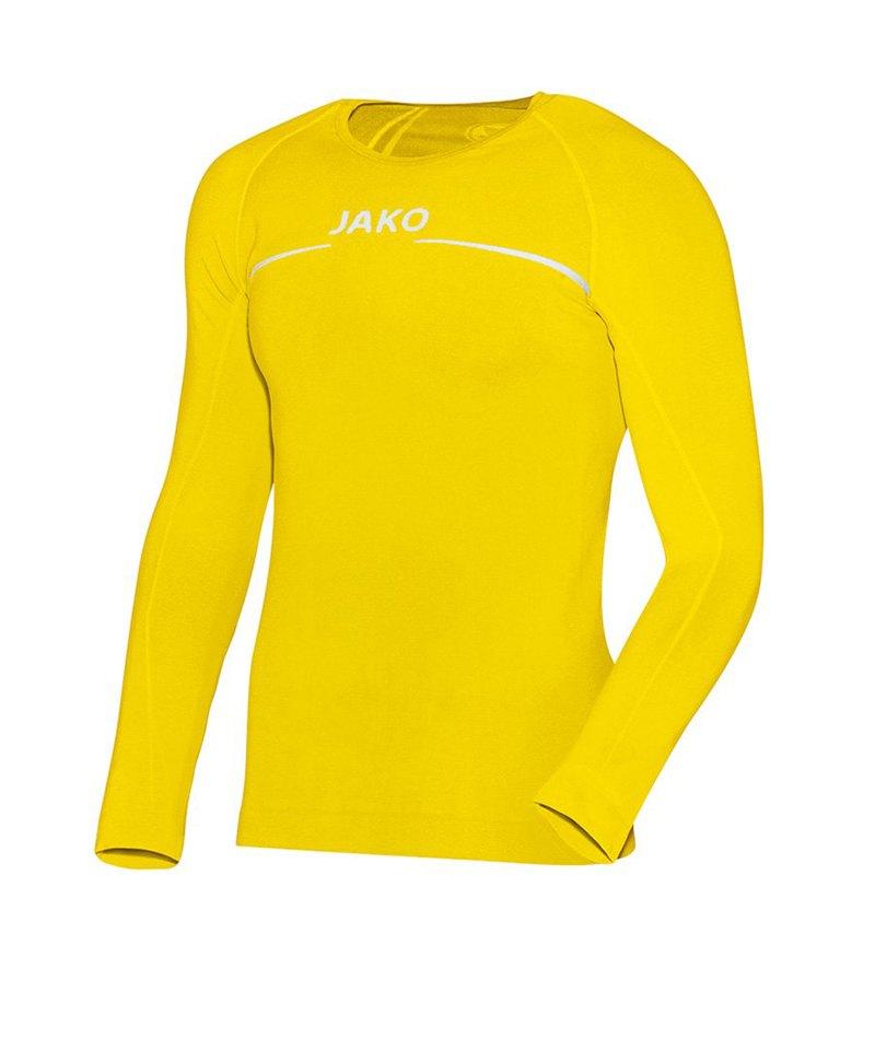 Jako Longsleeve Comfort Shirt Kids Gelb F30 - gelb