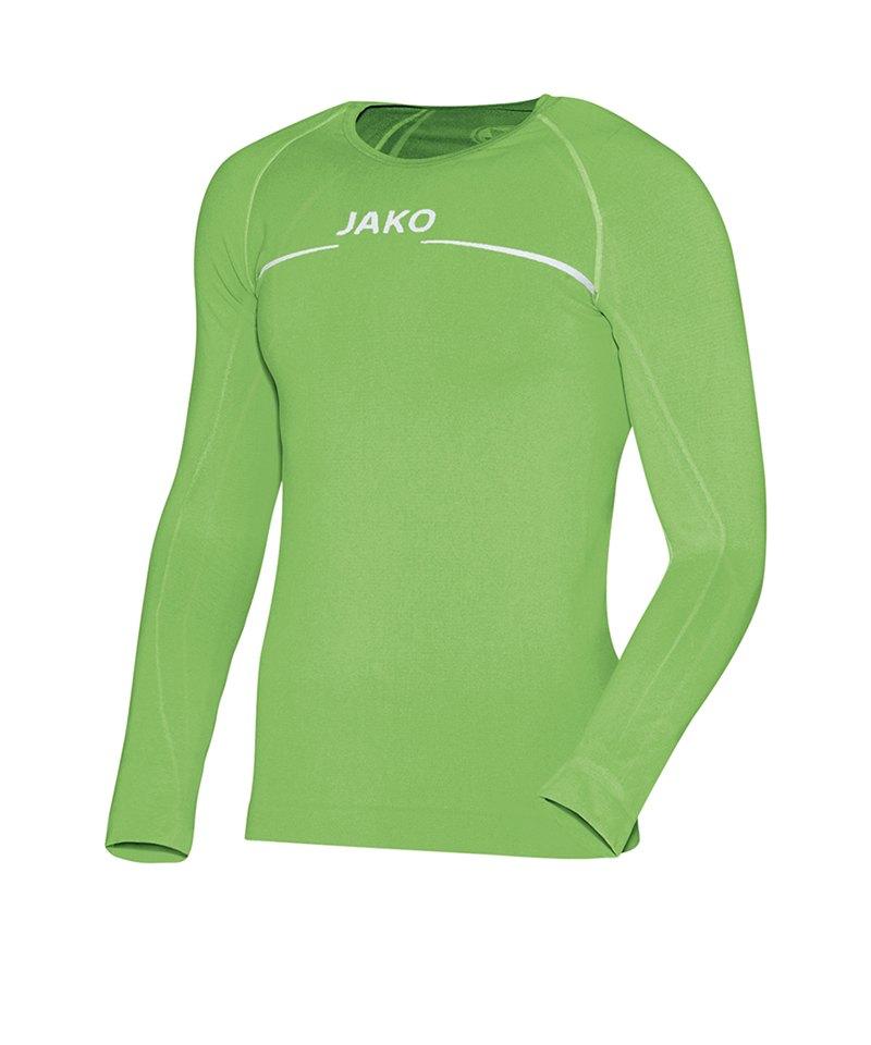 Jako Shirt Longsleeve Comfort Grün F22 - gelb