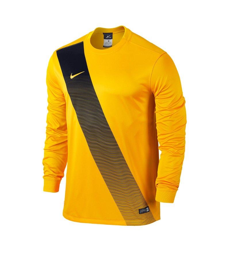 Nike Langarm Trikot Sash F739 Gelb - gelb