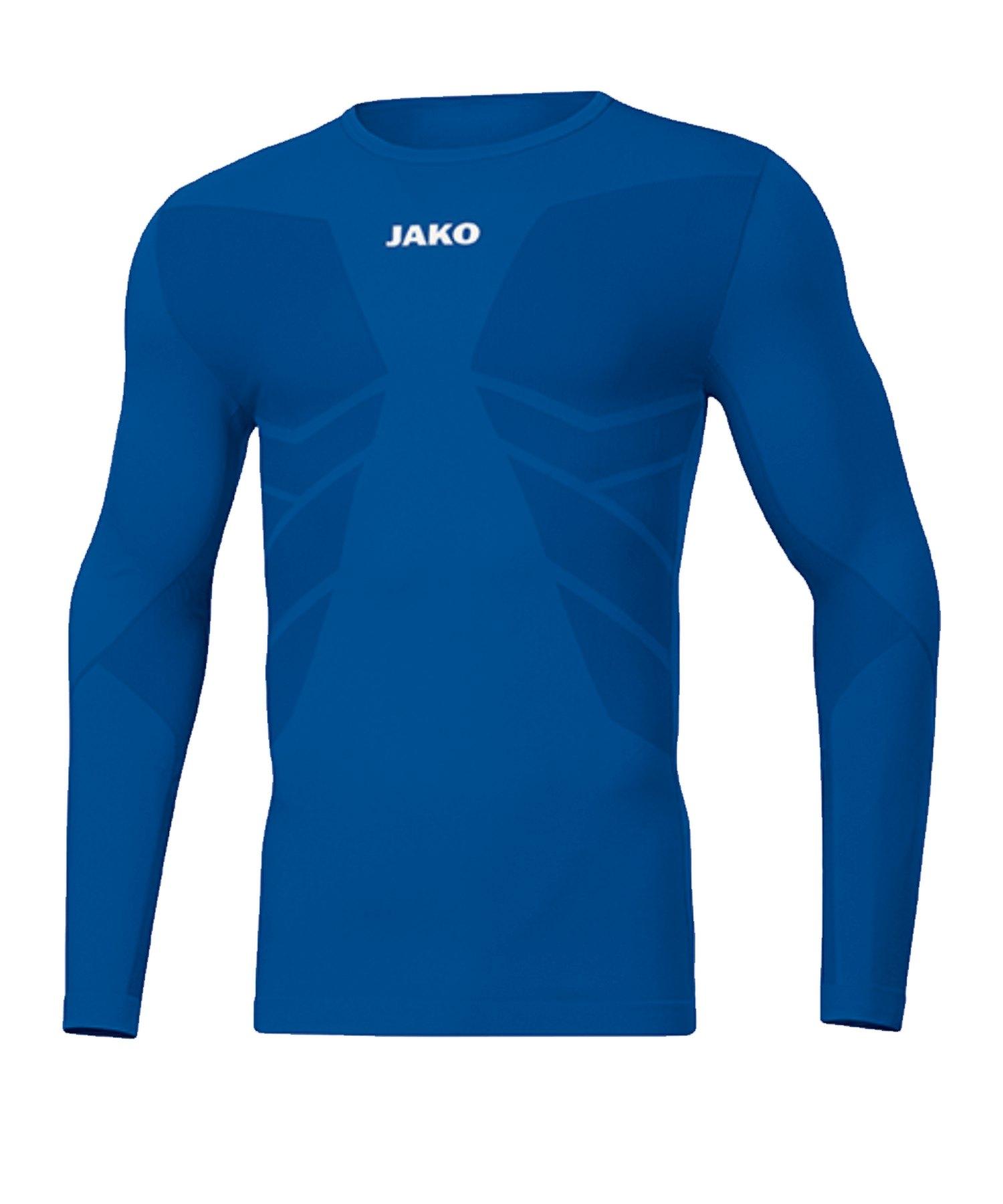 JAKO Comfort 2.0 langarm Blau F04 - blau