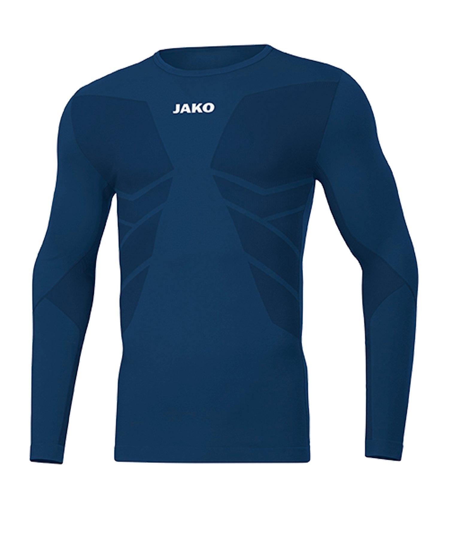 JAKO Comfort 2.0 langarm Blau F09 - blau
