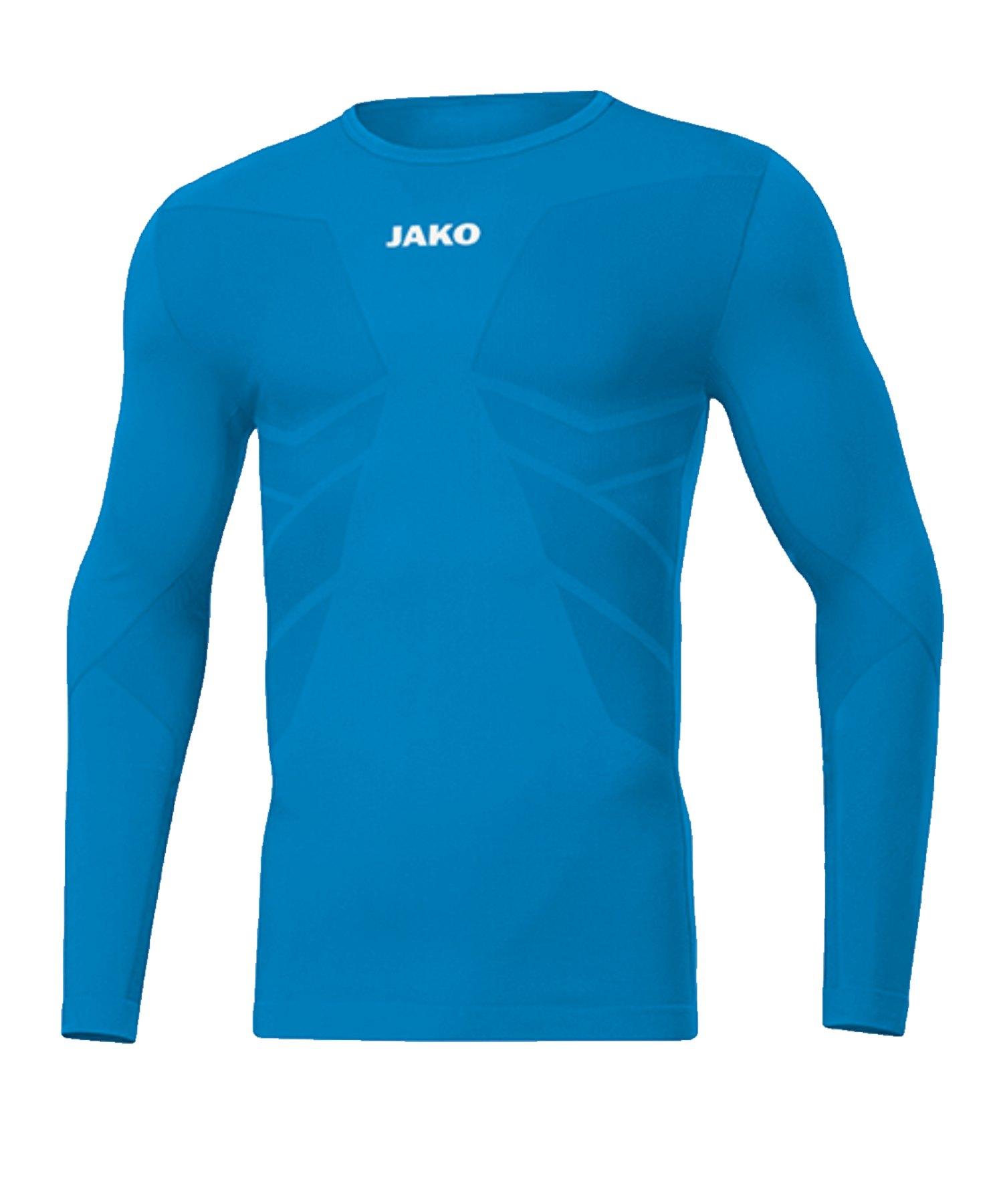 JAKO Comfort 2.0 langarm Hellblau F89 - blau
