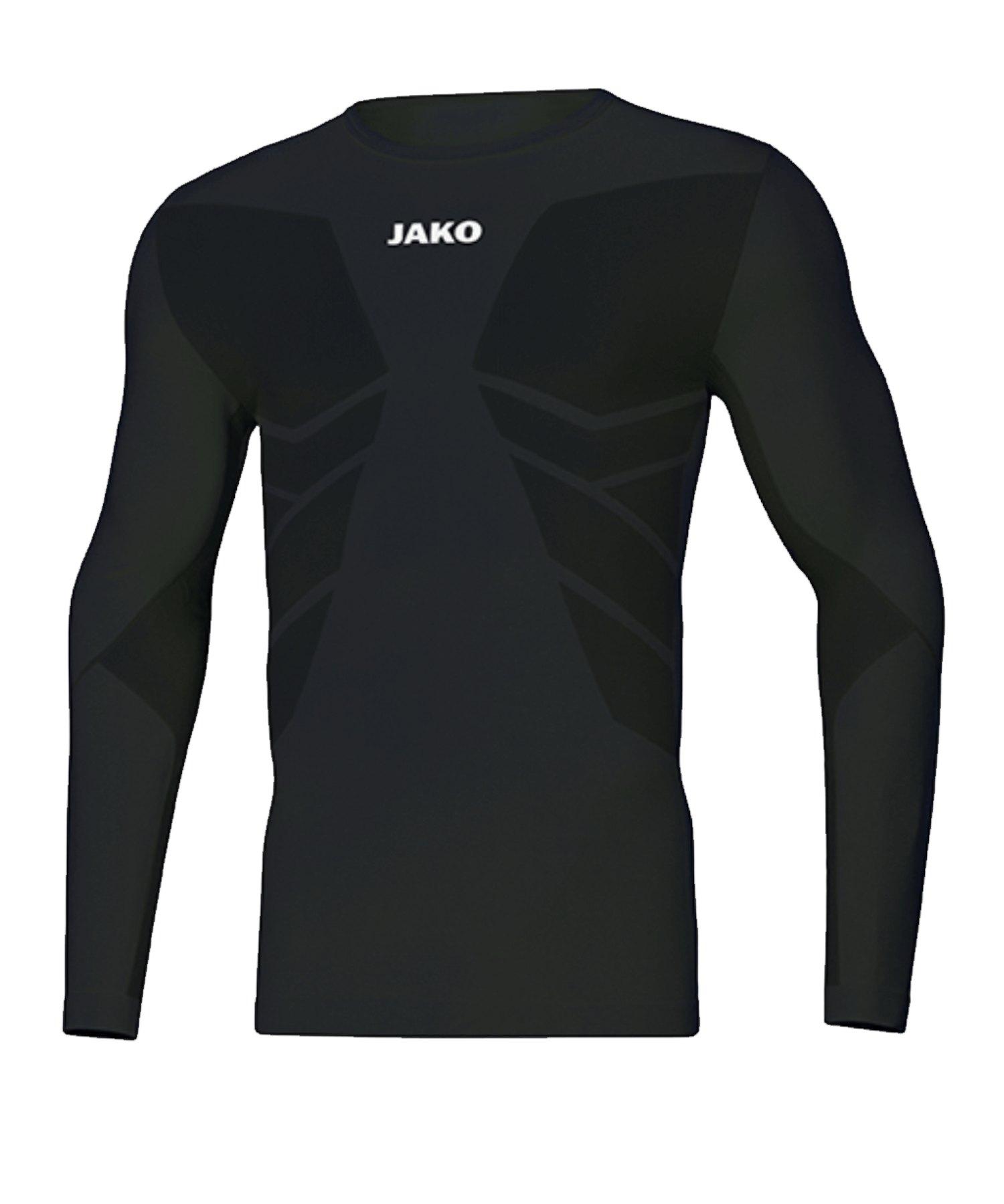 JAKO Comfort 2.0 langarm Kids Schwarz F08 - schwarz