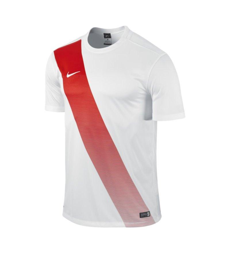 Nike Kurzarm Trikot Sash Kinder F105 Weiss - weiss