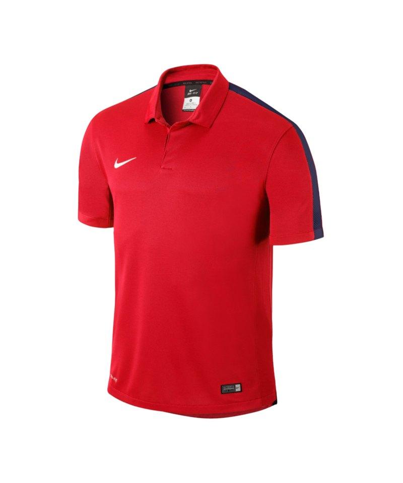 Nike Sideline Poloshirt Squad 15 Kinder F662 - rot
