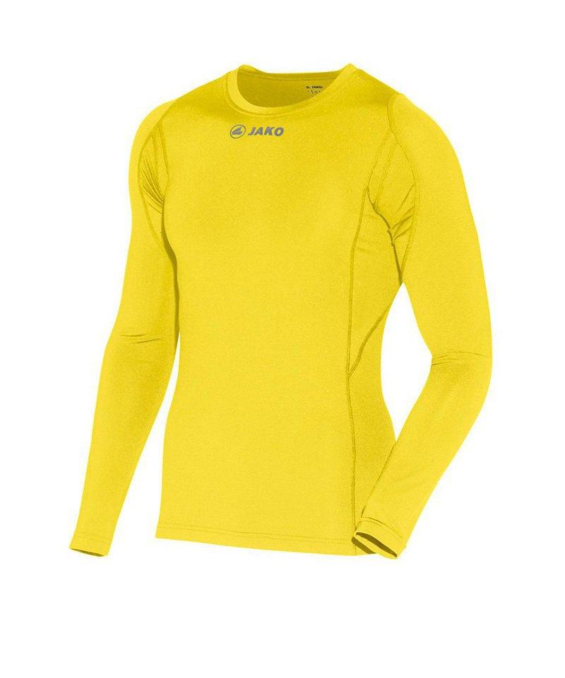 Jako Longsleeve Shirt Compression Gelb F03 - gelb