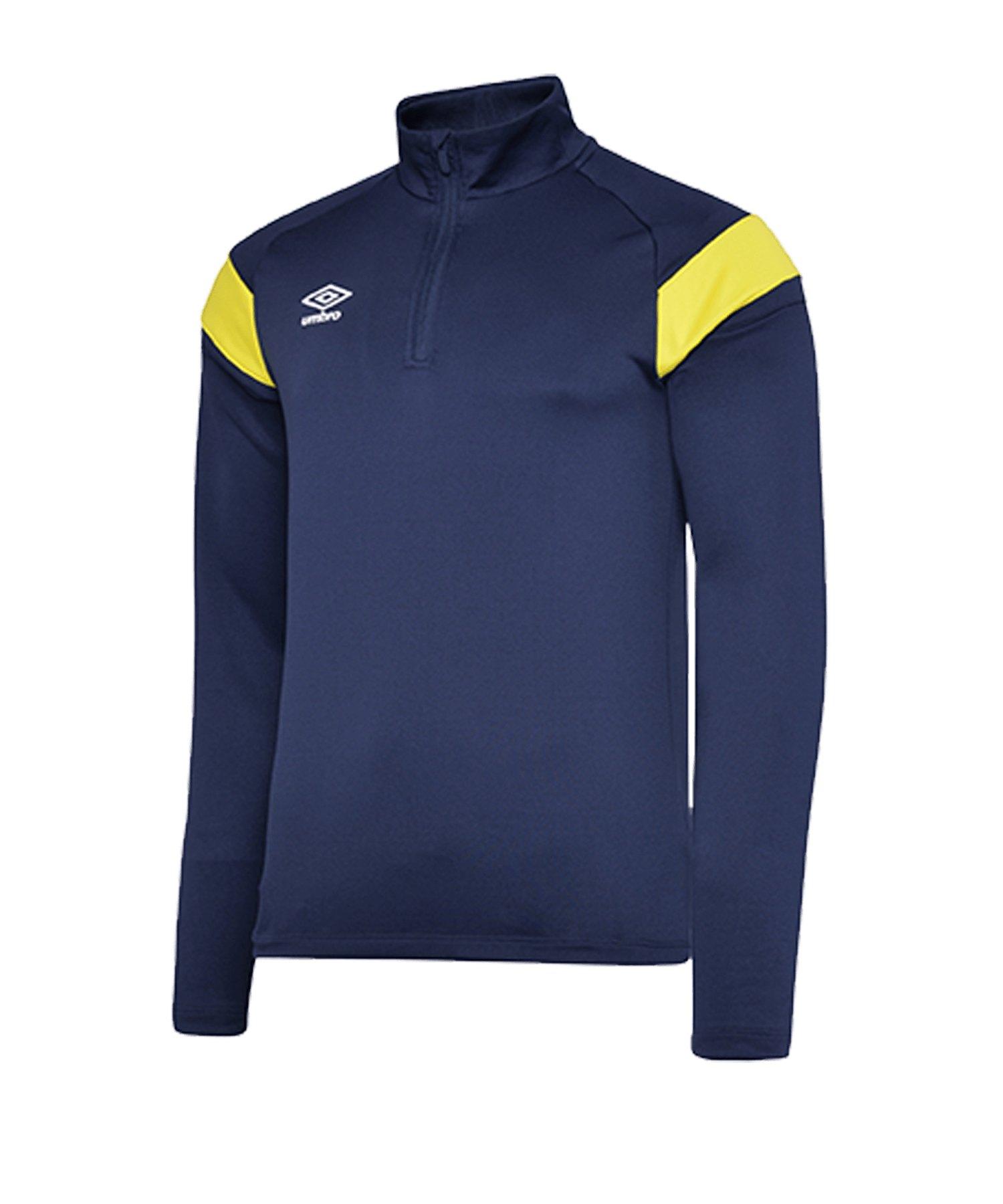 Umbro 1/2 Zip Sweatshirt Blau Gelb FGNF - blau