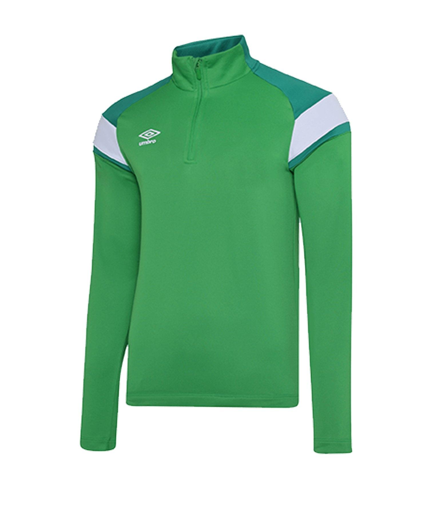 Umbro 1/2 Zip Sweatshirt Grün Weiss FGRE - gruen
