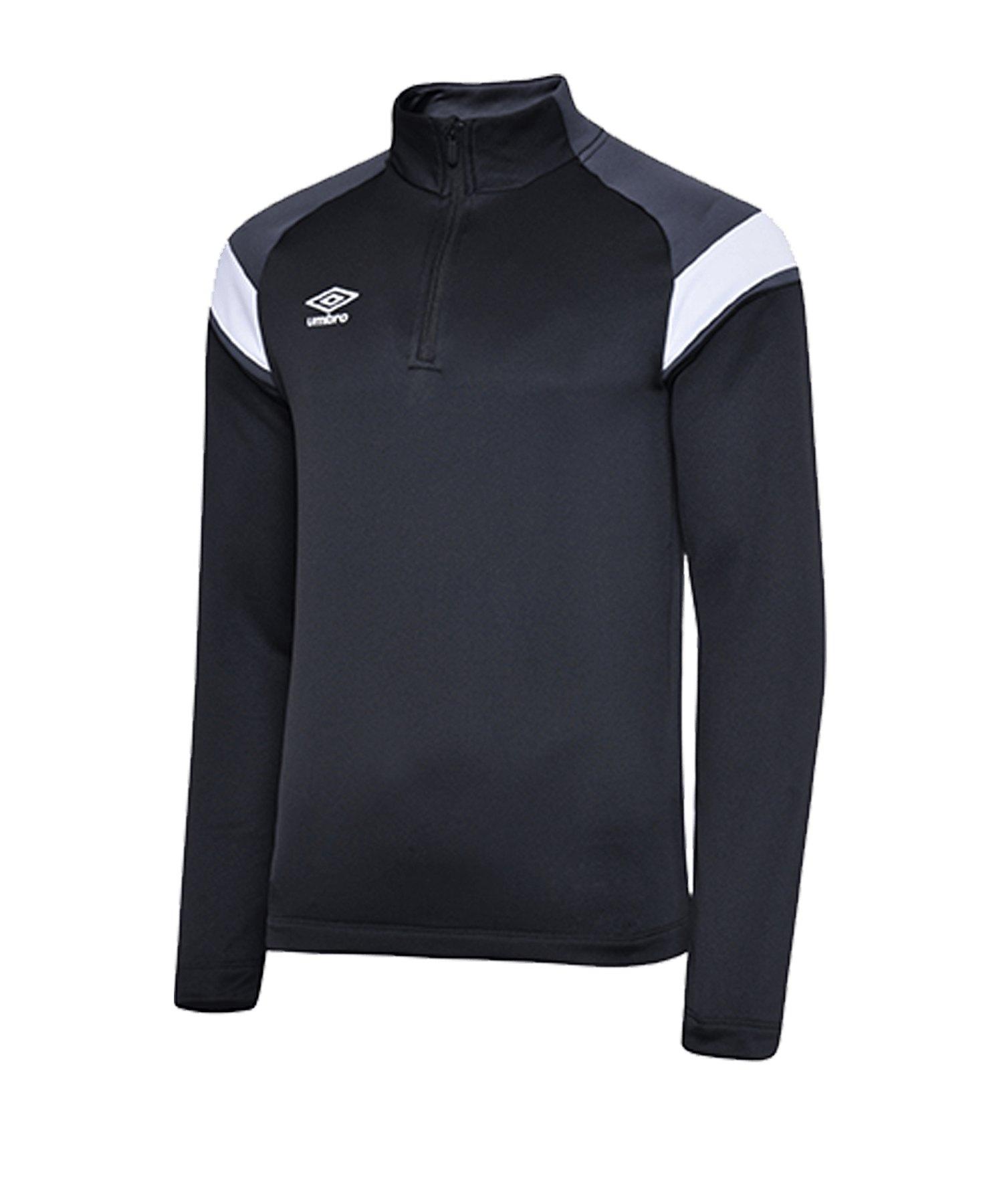 Umbro 1/2 Zip Sweatshirt Schwarz Grau GR6 - schwarz