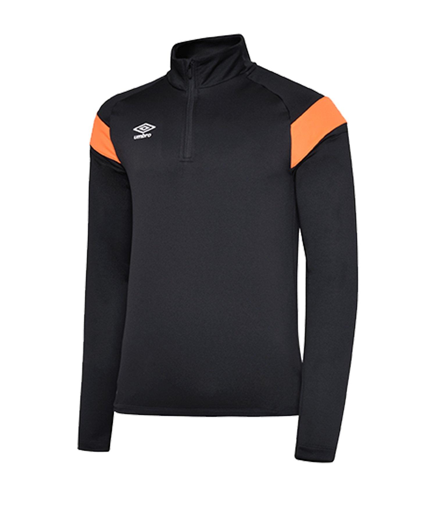 Umbro 1/2 Zip Sweatshirt Schwarz Orange F36O - schwarz