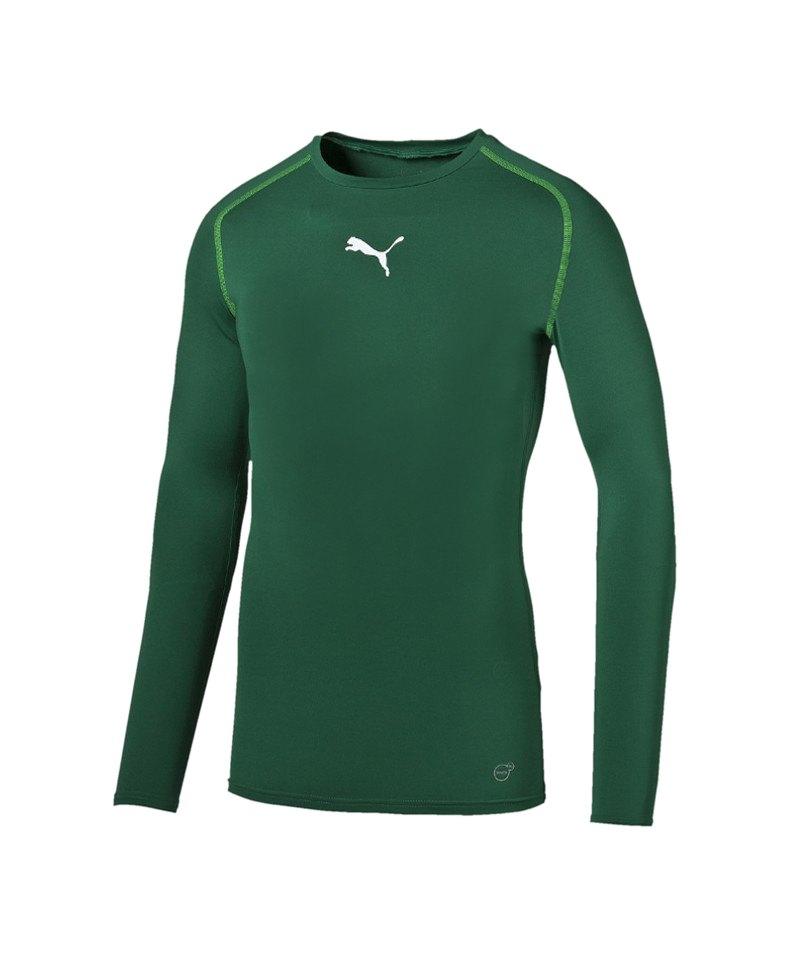 PUMA Longsleeve Shirt TB Dunkelgrün F05 - gruen