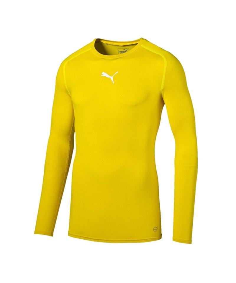 PUMA Longsleeve Shirt TB Gelb F07 - gelb