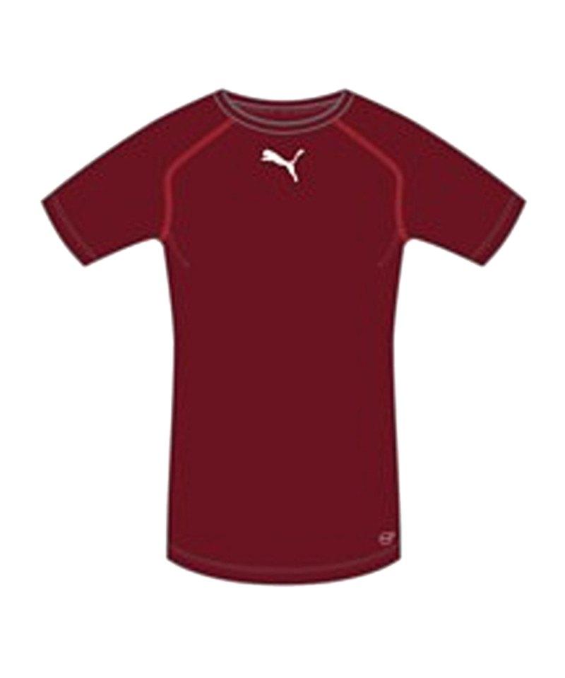 PUMA TB Shortsleeve Shirt Dunkelrot F09 - rot