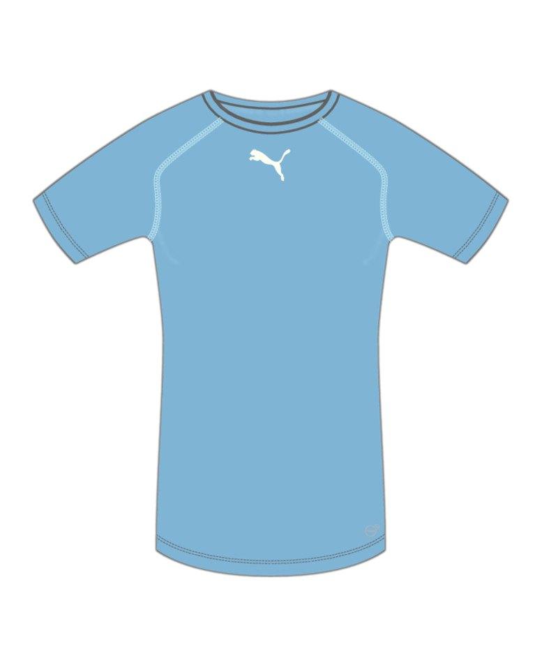 PUMA TB Shortsleeve Shirt Hellblau F11 - blau