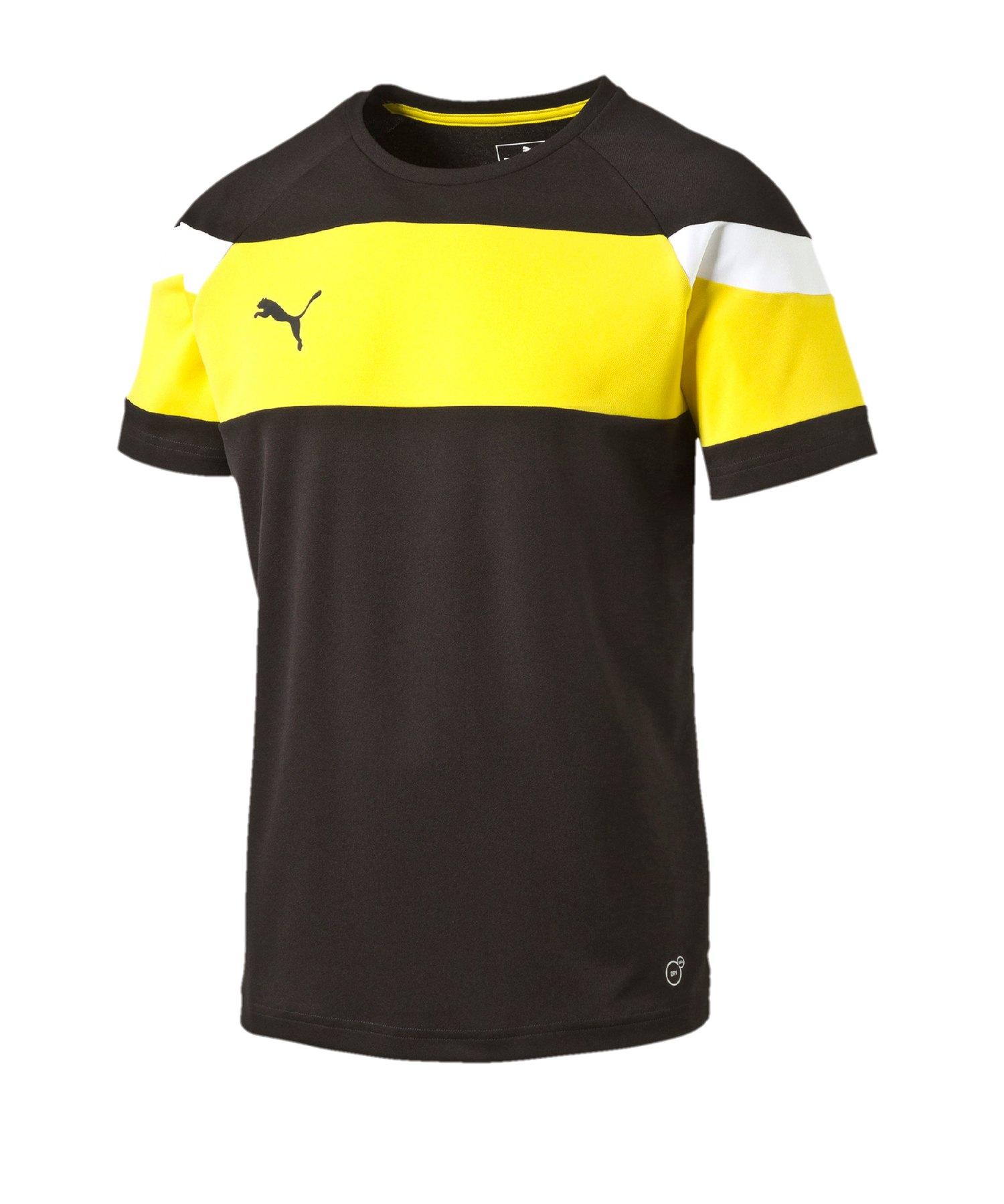 PUMA Spirit II Trainingsshirt Kids Schwarz Gelb - schwarz