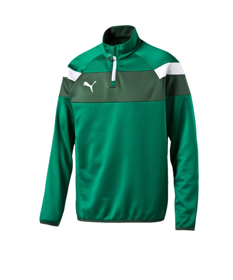 PUMA Spirit II 1/4 Zip Trainingstop Kids Grün F05 - gruen