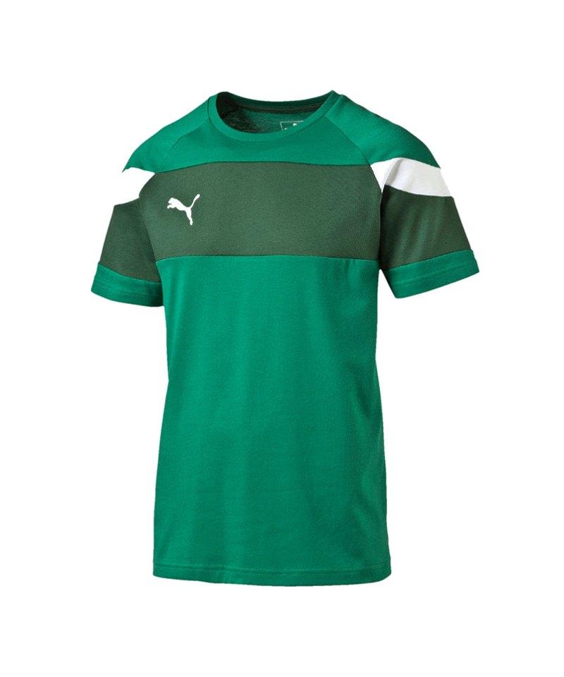 PUMA Leisure T-Shirt Spirit II Grün Weiss F05 - gruen