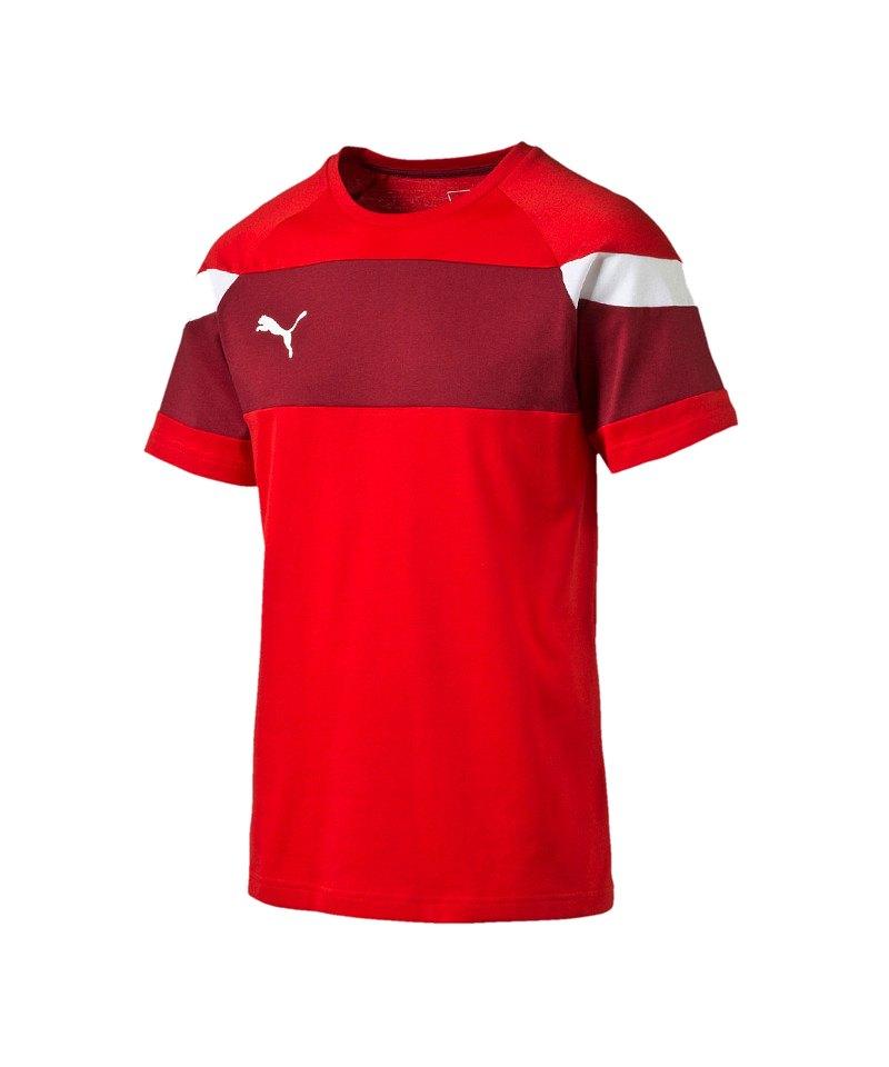 PUMA Leisure T-Shirt Spirit II Rot Weiss F01 - rot