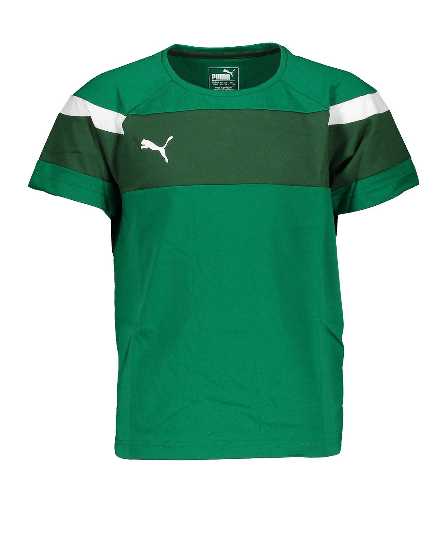 PUMA Spirit II Leisure T-Shirt Grün Weiss F05 - gruen