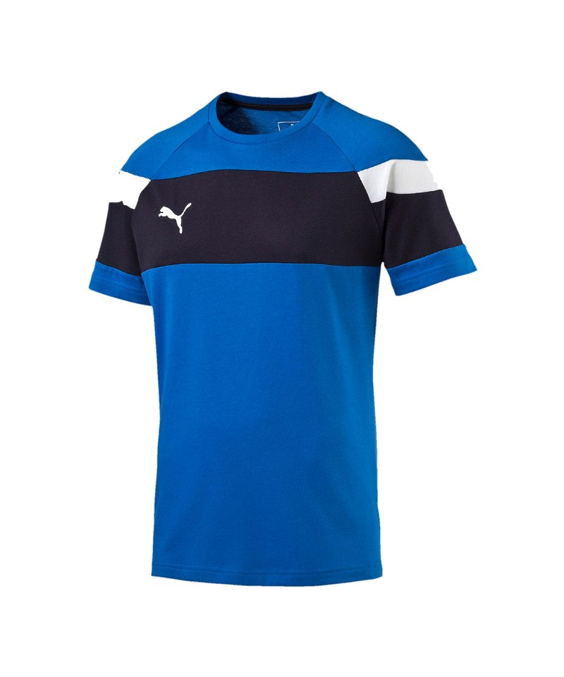 PUMA Spirit II Leisure T-Shirt Kids Blau Weiss F02 - blau