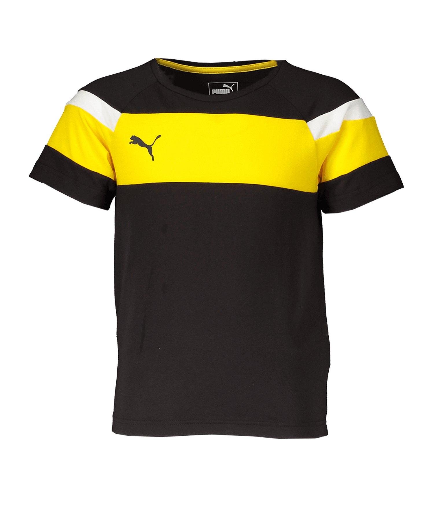 PUMA Spirit II Leisure T-Shirt Kids Schwarz F37 - schwarz