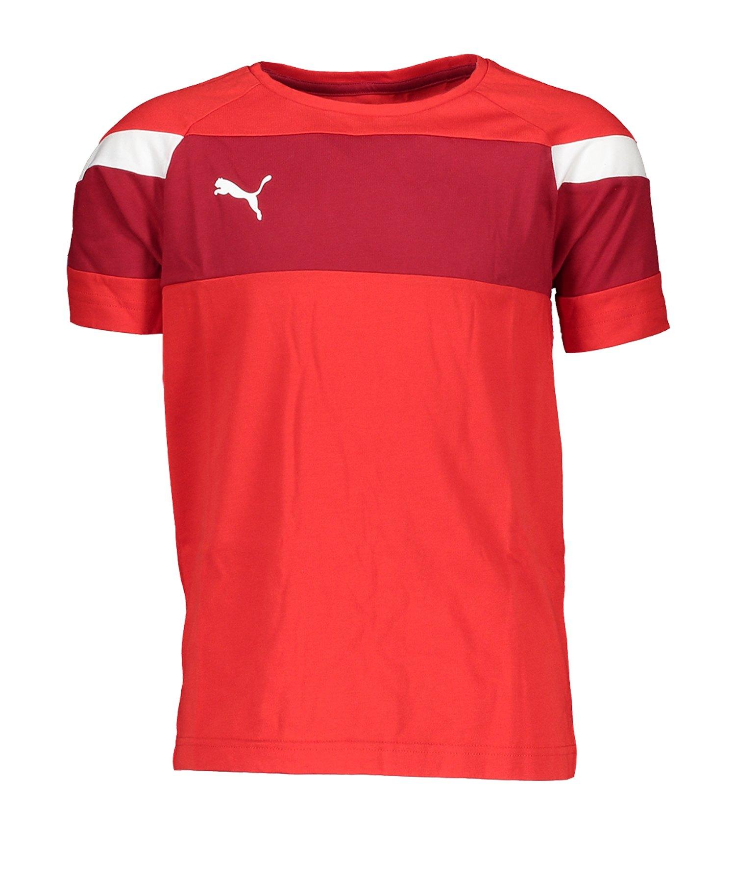 PUMA Spirit II Leisure T-Shirt Rot Weiss F01 - rot