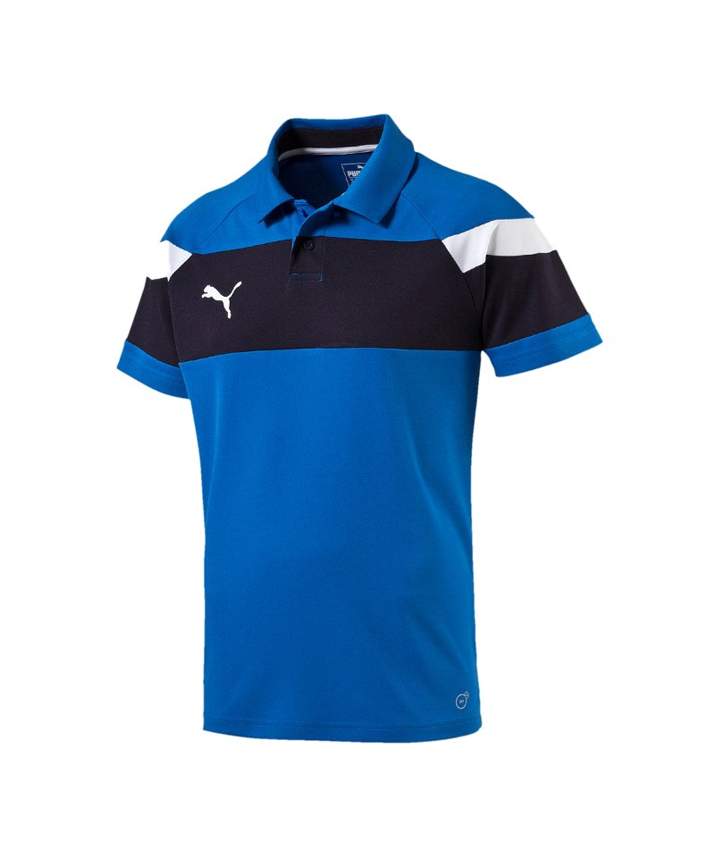 PUMA Poloshirt Spirit II Blau Weiss F02 - blau