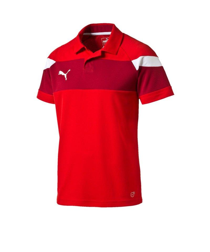 PUMA Poloshirt Spirit II Rot Weiss F01 - rot