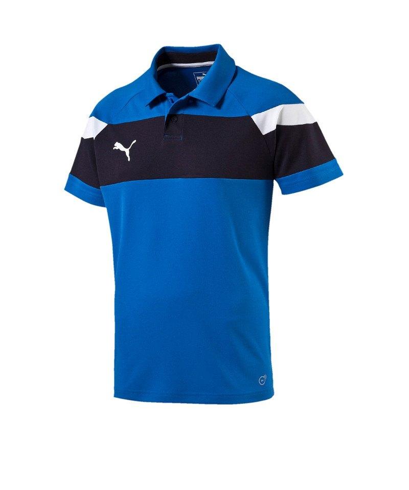 PUMA Spirit II Poloshirt Kids Blau Weiss F02 - blau