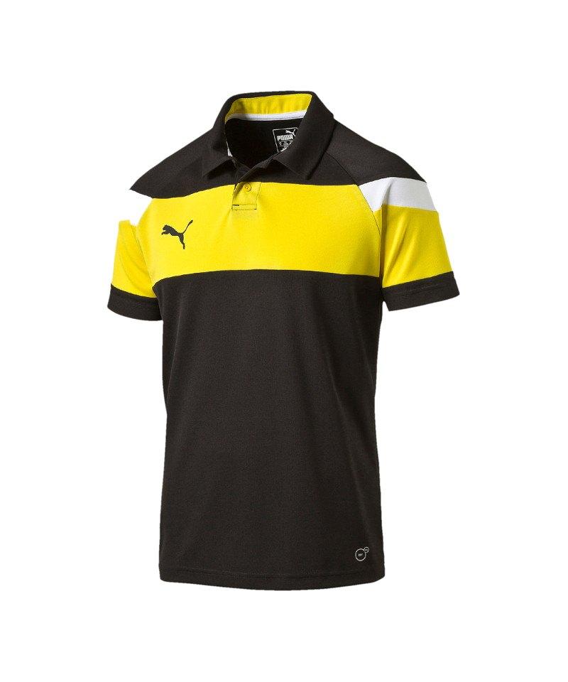 PUMA Spirit II Poloshirt Kids Schwarz Gelb F37 - schwarz