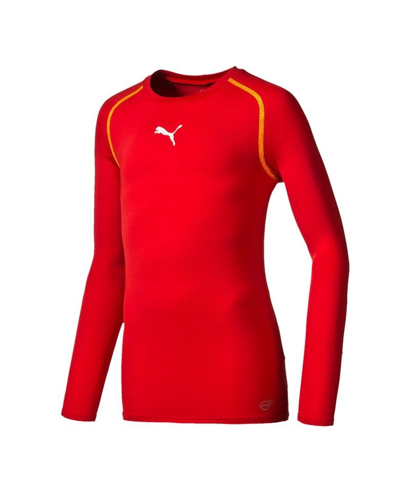 PUMA Longsleeve Shirt TB Kinder Rot F01 - rot