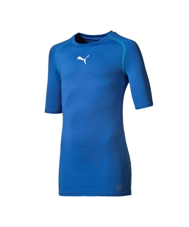 PUMA TB Shortsleeve Shirt Kids Blau F02 - blau