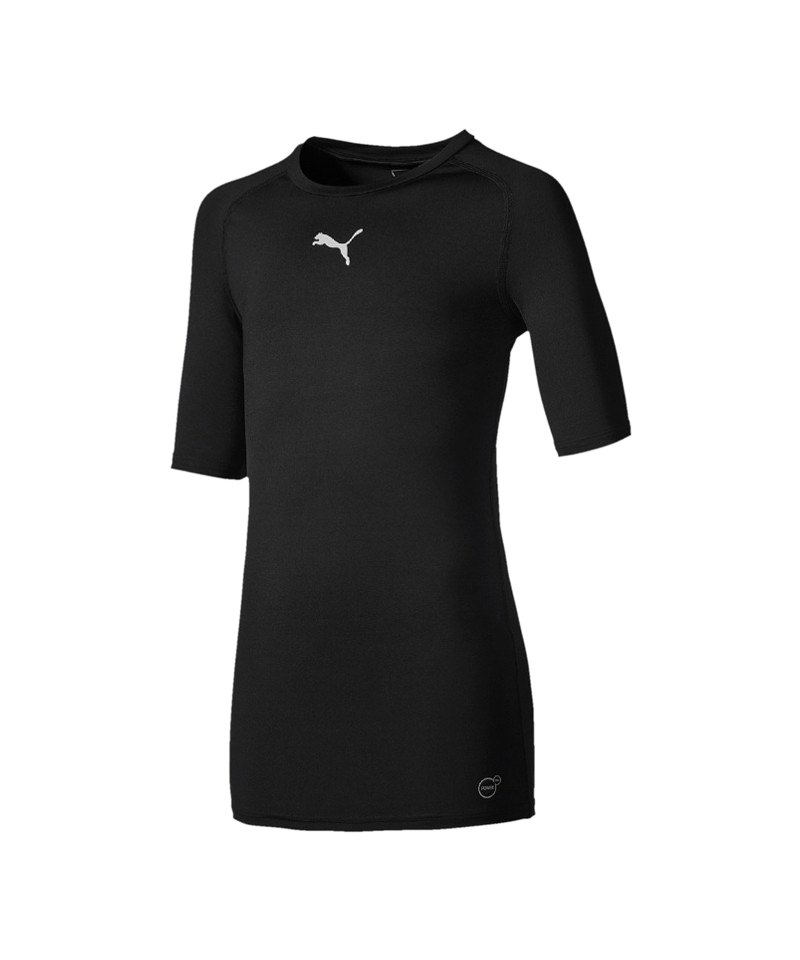 PUMA TB Shortsleeve Shirt Kids Schwarz F03 - schwarz