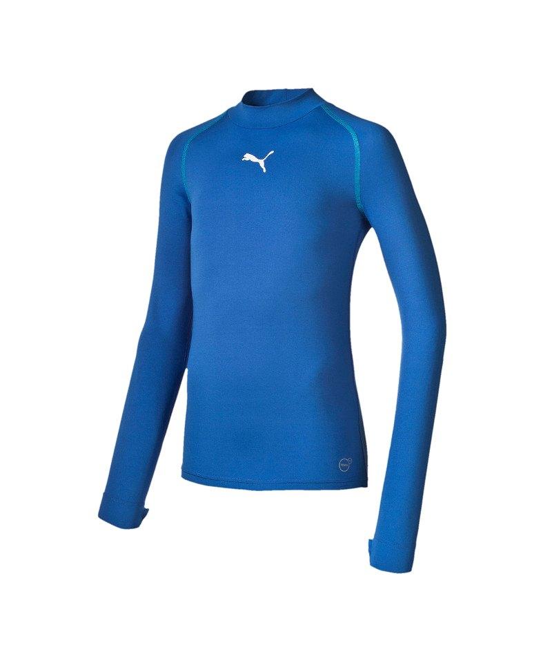 PUMA Shirt TB Longsleeve Warm Mock Kinder Blau F02 - blau