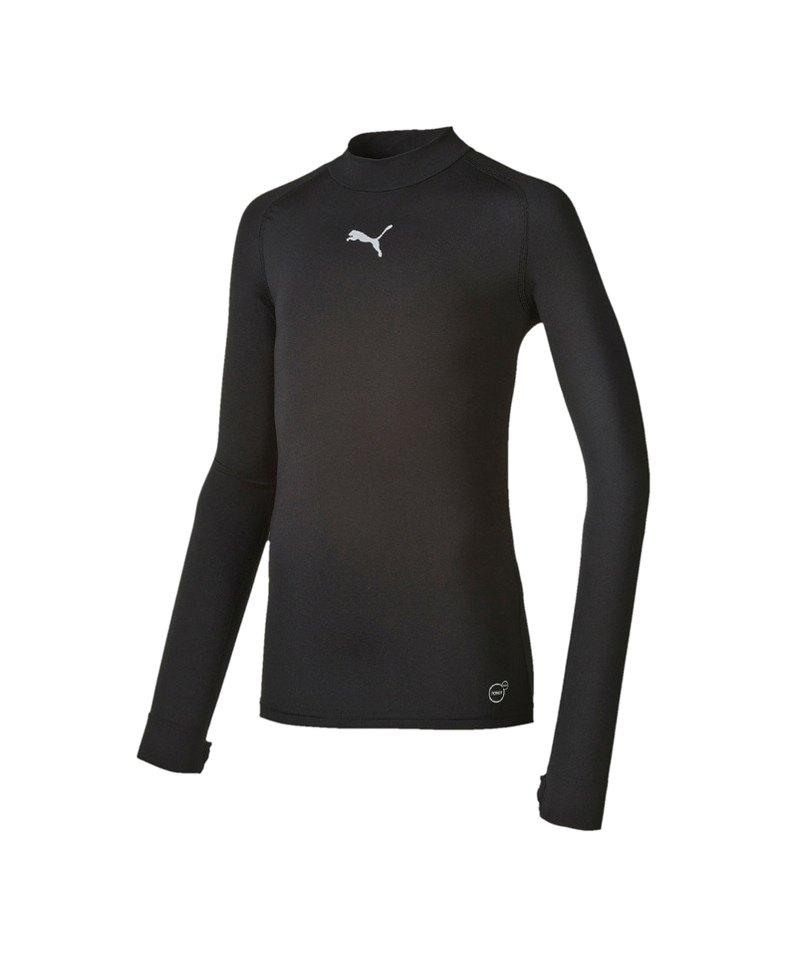PUMA Shirt TB Longsleeve Warm Mock Kinder F03 - schwarz