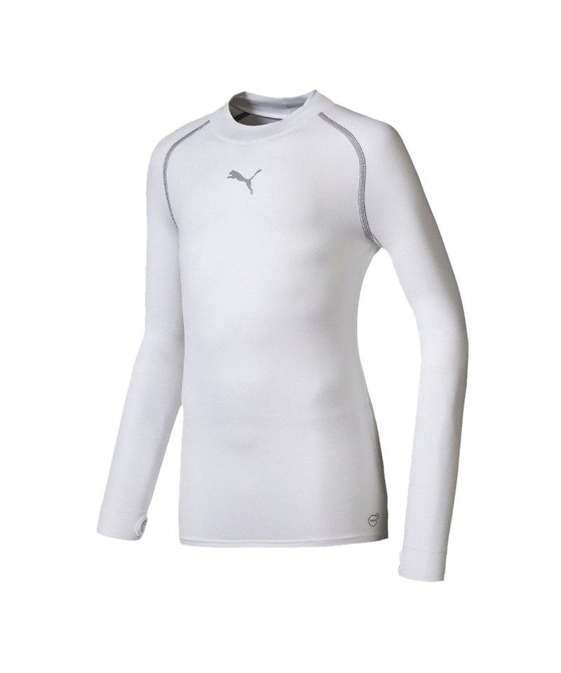 PUMA Shirt TB Longsleeve Warm Mock Kinder Weiss F04 - weiss