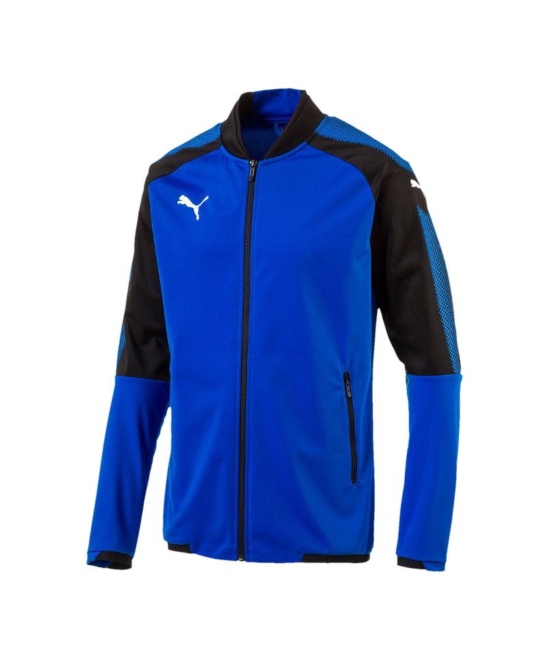 PUMA Ascension Stadium Jacket Blau Schwarz F02 - blau
