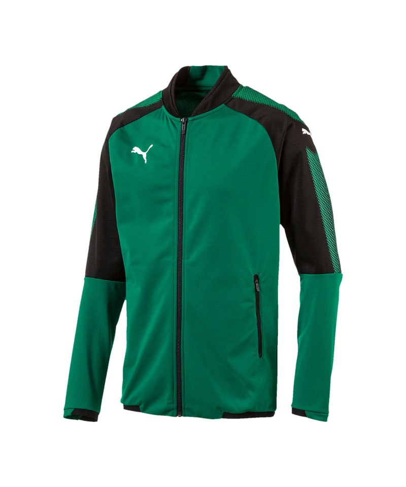 PUMA Ascension Stadium Jacket Grün Schwarz F05 - gruen