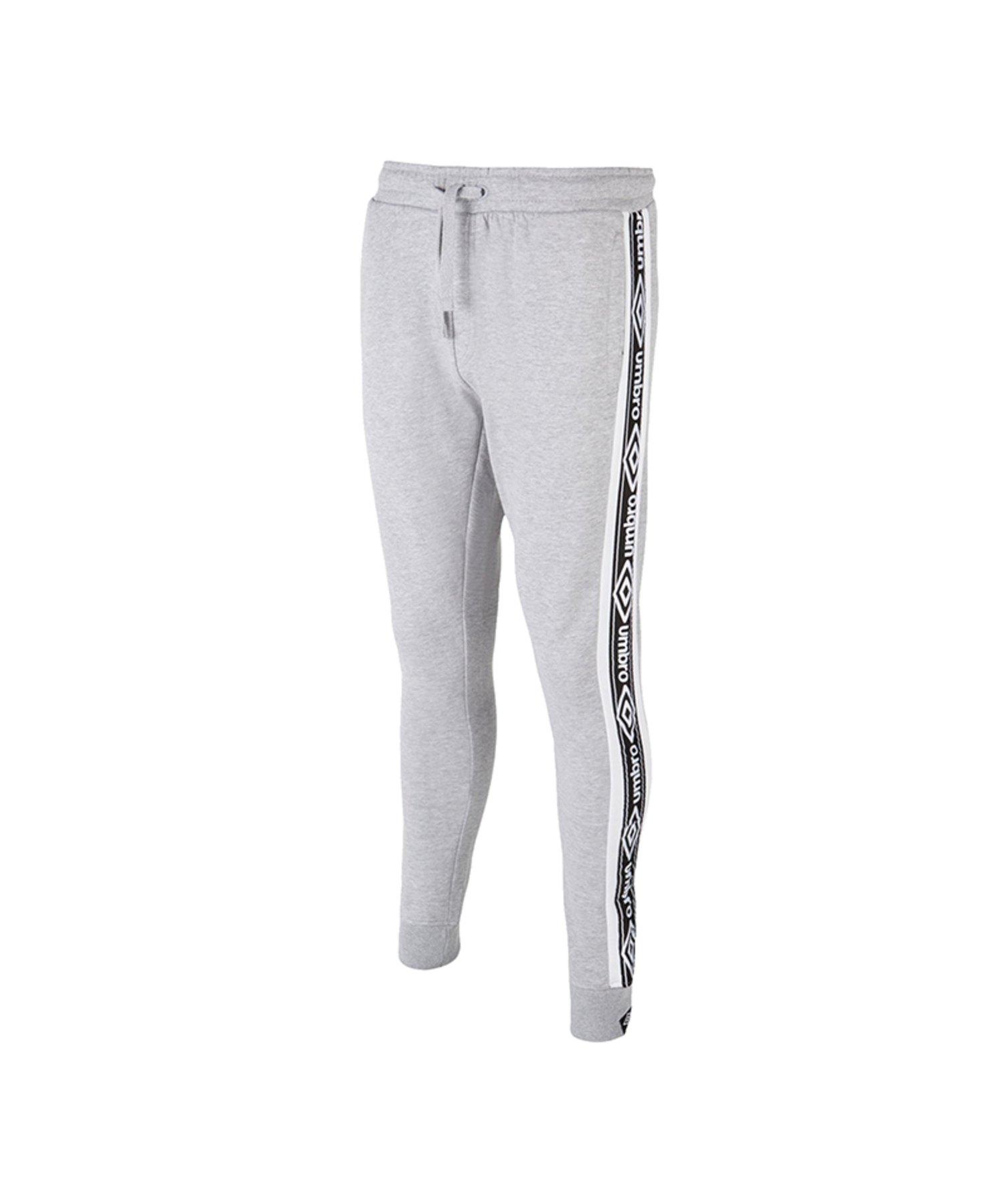 Umbro Taped Fleece Hose lang Grau FGT2 - Grau