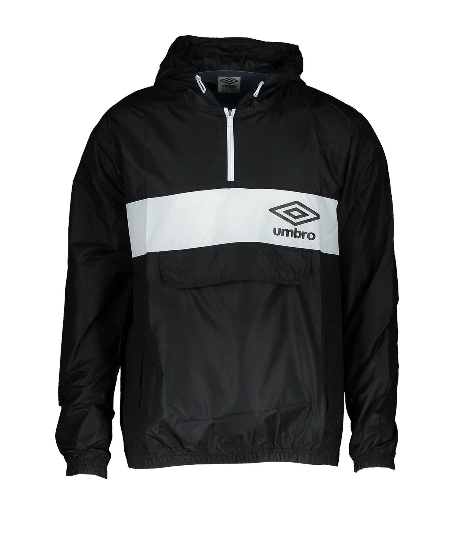 Umbro Panelled 1/2 Zip C-Shirt Schwarz FFL3 - Schwarz