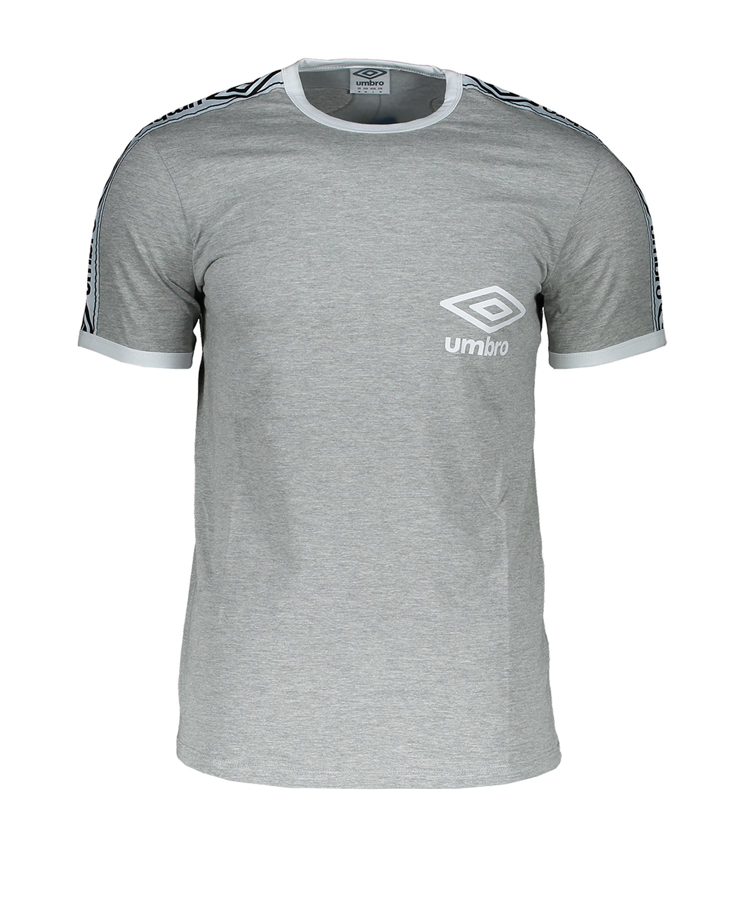 Umbro Taped Ringer T-Shirt Grau F263 - Grau